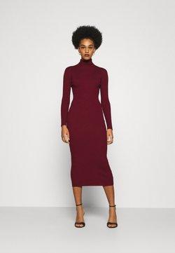 Missguided - ROLL NECK MIDI DRESS - Stickad klänning - deeper red