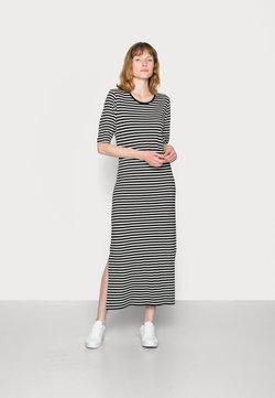 Marc O'Polo DENIM - DRESS CREW NECK SHORT SLEEVE LOOSE STRIPE - Jerseykleid - black