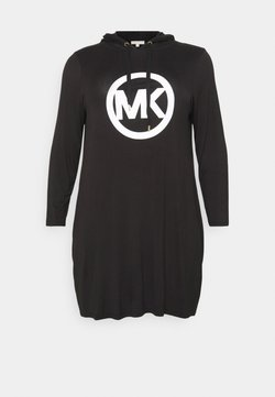 MICHAEL Michael Kors - CIRCLE HOODIE DRESS - Vapaa-ajan mekko - black