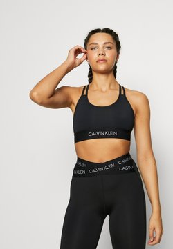 Calvin Klein Performance - LOW SUPPORT BRA - Sujetador deportivo - black