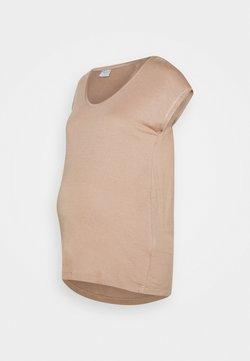 Pieces Maternity - PCMBILLO TEE SOLID - Camiseta básica - natural