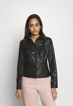 Weekday - VIVIANA BLOUSE - Button-down blouse - black