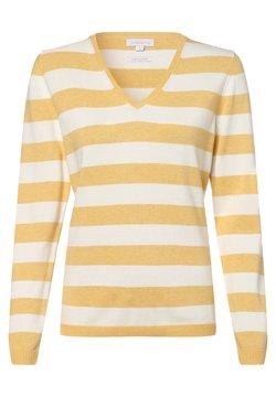 brookshire - Strickpullover - gelb weiß
