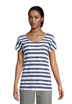 LANDS' END - T-Shirt print - white stripe