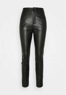 Missguided - CROC TROUSER - Leggings - Hosen - black