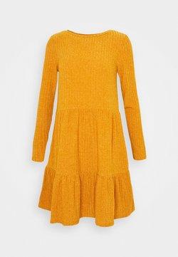 Vila - VIELITA DRESS - Vestido de punto - pumpkin spice/melange