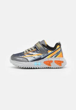 Geox - ASSISTER BOY - Sneakers - grey/yellow