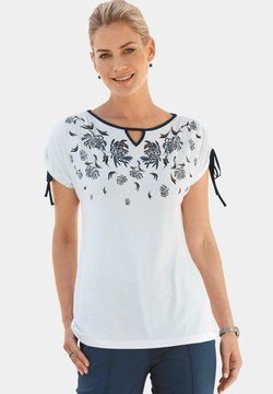 ATELIER GS - T-Shirt print - weiß/royalblau