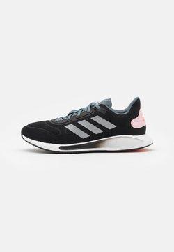 adidas Performance - GALAXAR RUN - Zapatillas de running neutras - core black/silver metallic/fresh candy