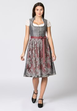 Stockerpoint - Dirndl - grau-bordeaux