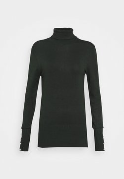 Dorothy Perkins Tall - PEARL BUTTON CUFF ROLL NECK - Neule - green