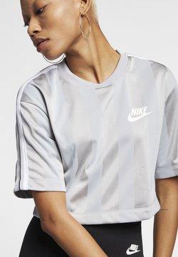 Nike Sportswear - T-Shirt print - wolf grey/white