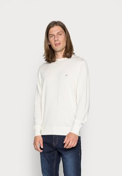 Calvin Klein Tailored - SUPERIOR CREW NECK SWEATER - Pullover - egret