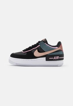 Nike Sportswear - AIR FORCE 1 SHADOW - Sneakers basse - black/metallic red bronze/light arctic pink/claystone red/ozone blue/white
