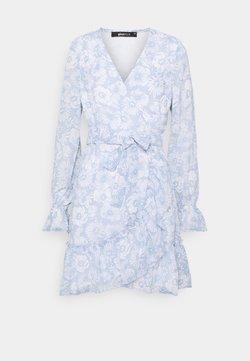 Gina Tricot - JULIANNA WRAP DRESS - Cocktailkleid/festliches Kleid - blue