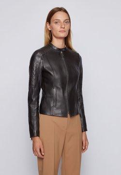 BOSS - SADENO - Leather jacket - black
