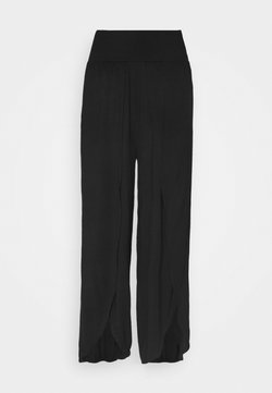 South Beach - WRAP SPLIT PANT - Pantalones deportivos - black