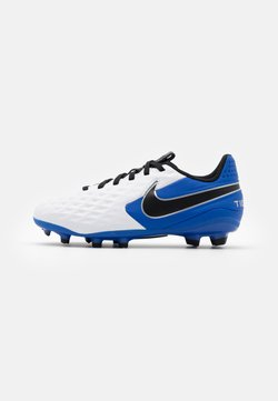 Nike Performance - TIEMPO JR LEGEND 8 ACADEMY FG/MG UNISEX - Fotbollsskor fasta dobbar - white/black/hyper royal/metallic silver