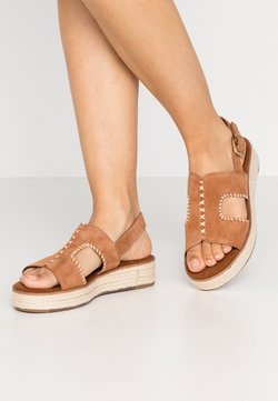 Tamaris - Korkeakorkoiset sandaalit - nut
