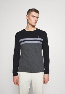 Pier One - Langarmshirt - black/mottled dark grey