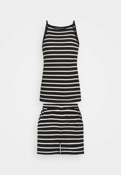 ONLY Tall - ONLMAY LIFE STRIPE SET  - Top - black/cloud
