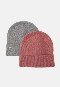 ONLY - ONLBELLA LIFE BEANIE 2 PACK - Mütze - light grey melange/salmon