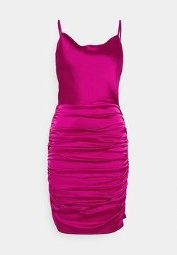 Missguided - COWL NECK STRAPPY BODYCON DRESS - Cocktailkleid/festliches Kleid - purple