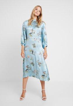 Closet - CLOSET GATHERED NECK A-LINE DRESS - Robe de soirée - blue