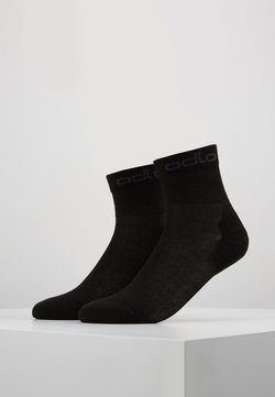 ODLO - SOCKS QUARTER ACTIVE 2 PACK - Calcetines de deporte - black