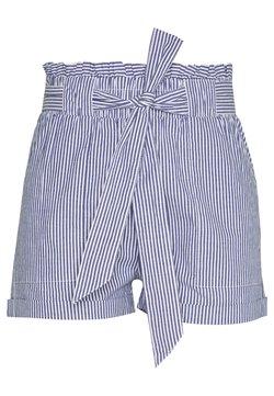 ONLY Petite - ONLSMILLA STRIPE BELT - Shorts - medium blue/white