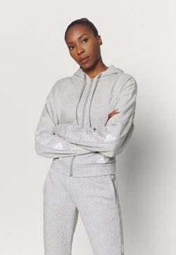 adidas Performance - Bluza rozpinana - mottled grey/white