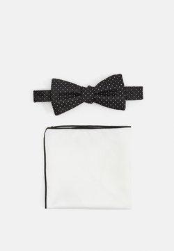 Selected Homme - SLHLANDON BOWTIE GIFTBOX SET - Mouchoir de poche - black
