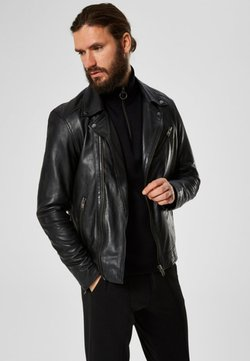 Selected Homme - Leren jas - black