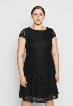 Vero Moda Curve - VMSASSA SHORT DRESS - Hverdagskjoler - black