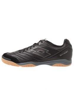 Lotto - STADIO 300 II ID - Indoor football boots - all black/gravity titan
