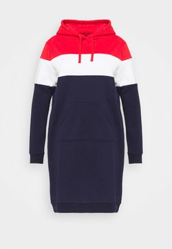 Even&Odd Curvy - Freizeitkleid - red/white/dark blue