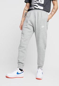 Nike Sportswear - CLUB - Jogginghose - dark grey heather/matte silver/white