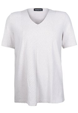 seeyou - DIAGONALSTREIFEN - T-Shirt print - leinen