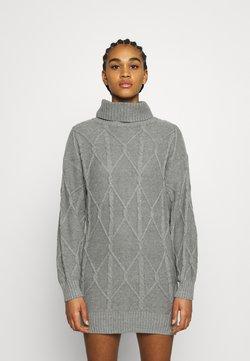 Hollister Co. - ECLECTIC DRESS - Neulemekko - medium grey