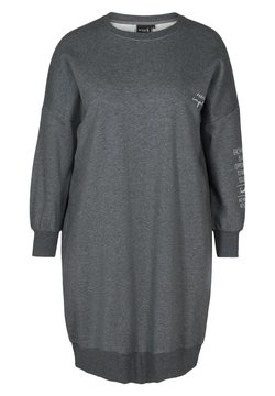 Active by Zizzi - WITH ROUND NECK - Strickkleid - dark grey