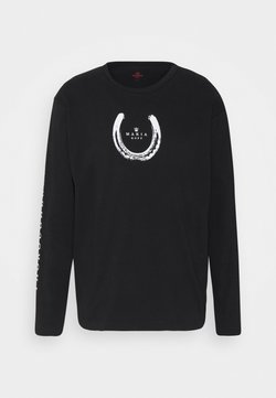 Makia - THOROUGHBREWED LONG SLEEVE - Pitkähihainen paita - black