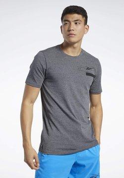 Reebok - ACTIVCHILL+COTTON T-SHIRT - T-Shirt print - black