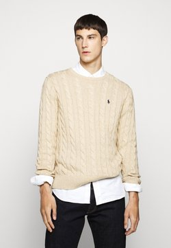 Polo Ralph Lauren - CABLE - Neule - oatmeal heather