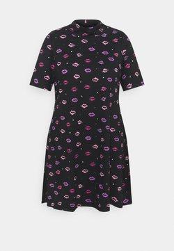 Simply Be - AMY HIGH NECK SWING DRESS - Vapaa-ajan mekko - black