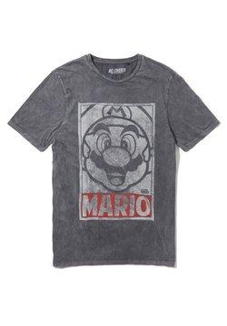 Re:Covered - SUPER MARIO VINTAGE TONAL FACE - T-shirt imprimé - grau