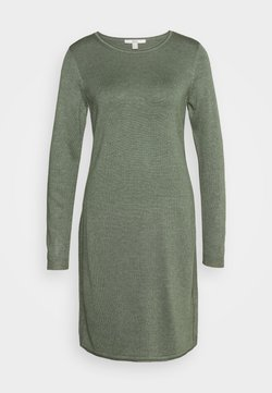 edc by Esprit - DRESS - Strickkleid - khaki green