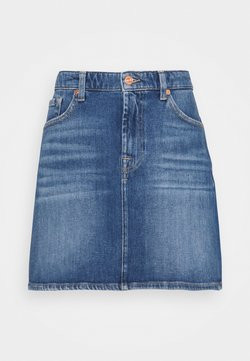 7 for all mankind - SKIRT PIER - Minirock - mid blue