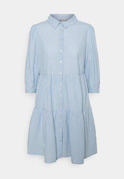 ONLY - ONLAMARYLLIS DRESS - Blusenkleid - blue fog/cloud dancer