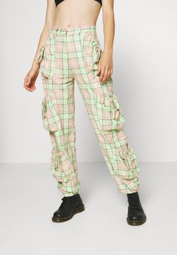 The Ragged Priest - SYMBOL PANT - Cargohose - lime/pink