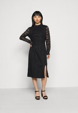 Glamorous Petite - FRIDAY OPEN BACK PARTY DRESS - Juhlamekko - black